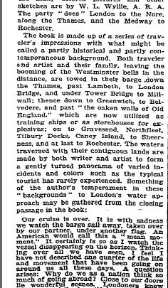 Newspaper acticle regarding 'London to the Nore' 1905   The New York Times