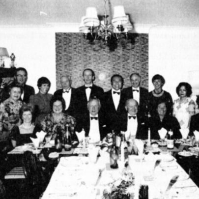 His practice partners and their wives in 1983