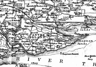 Map of Canvey