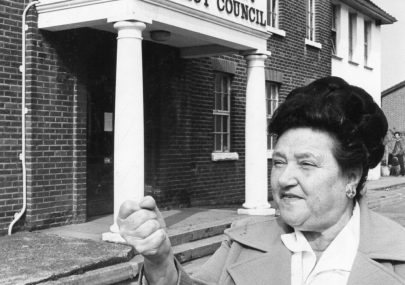 Dot Shaw outside Canvey's Council Offices