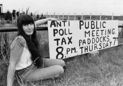 Advertising Anti Poll Tax Meeting