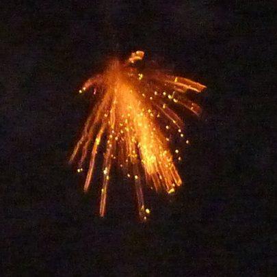 Ten rockets were lit to Celebrate the Centenary   Janet Penn