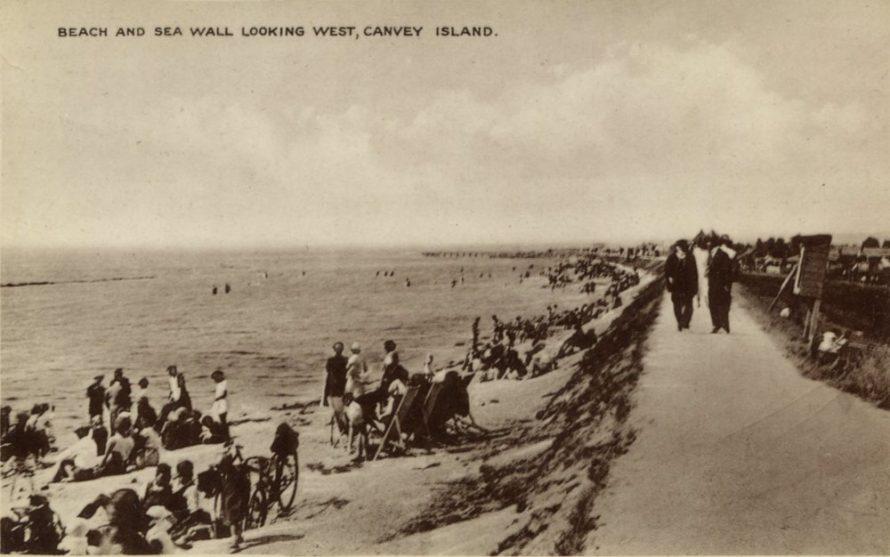 Beach and Seawall looking West
