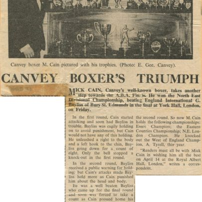 Canvey News 18 March 1966. Click on picture to see enlargement   Mick Cain