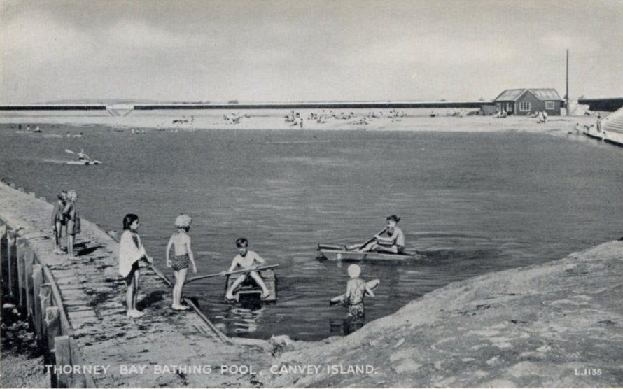 Postcard with an enlargement below
