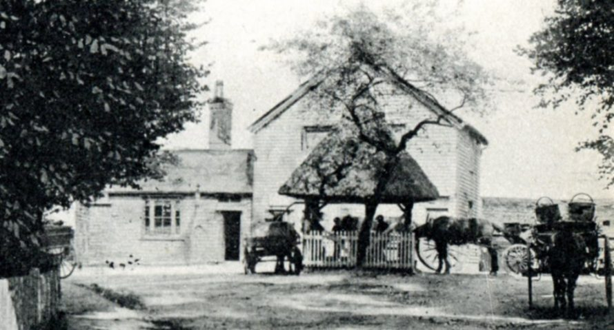 Close-up of the pump and pub