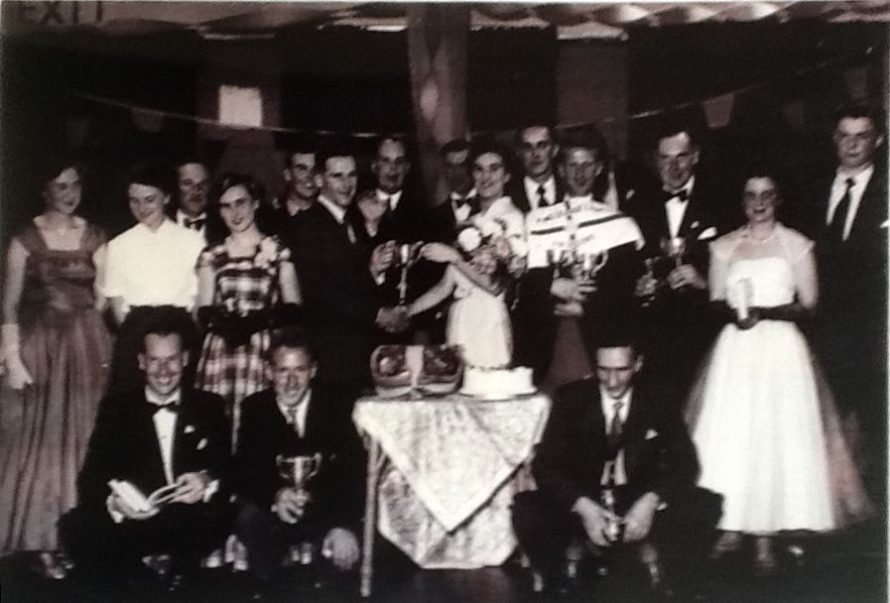John Manly is 4th in from right looks like he won quite a lot that year at I.Y.C 1950's .Arthur Rapkin with the books front row left. | Jane Parkin