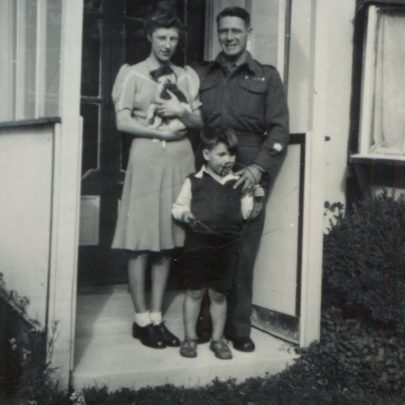 Fay, Dad and Chris at Greenglades c1946 | Jessica Thorndike