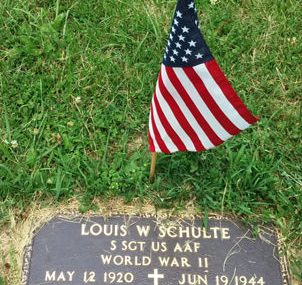 Grave of Louis W Schulte
