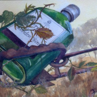 'The Gin Trap' a watercolour | Dudley George