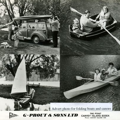 1950's: prout Advert for Folding Boats & Canoes | Ian Hawks