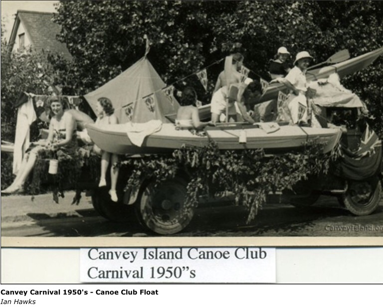 Could it be the Canoe club Carnival float 1950