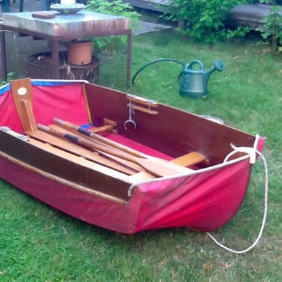 A Prout folding dinghy