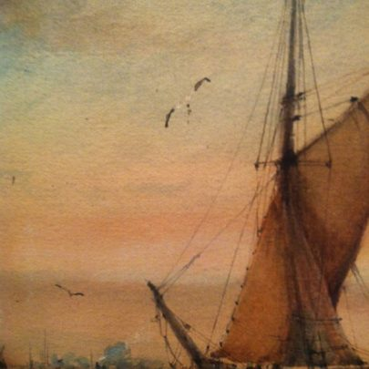 Maritime Watercolour Canvey Island