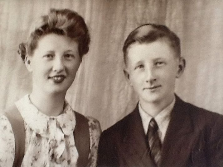 Fay and John Manly, John looks about 15 and Fay was three years older so this would be about 1943 | Jane Parkin