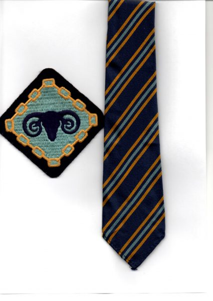 Furtherwick Park School blazer badge and tie. | J. Walden