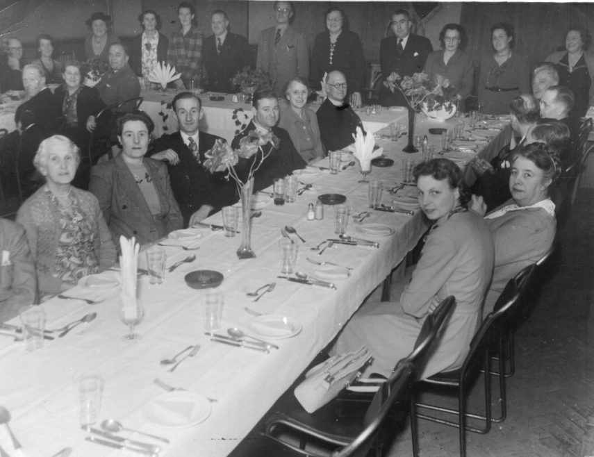RBL dinner, probably held at the Admiral Jellico. | Val Court