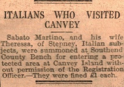Italians Who Visited Canvey
