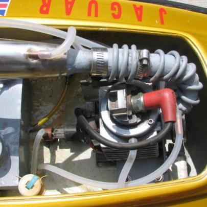 Converted 35cc Qudra chain saw engine