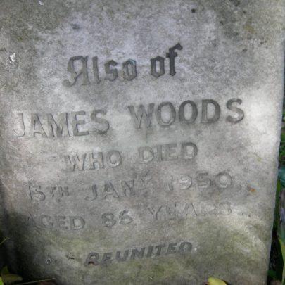 Grave Stone of James Woods 1866-1950 St Katherine's Graveyard | Janet Penn