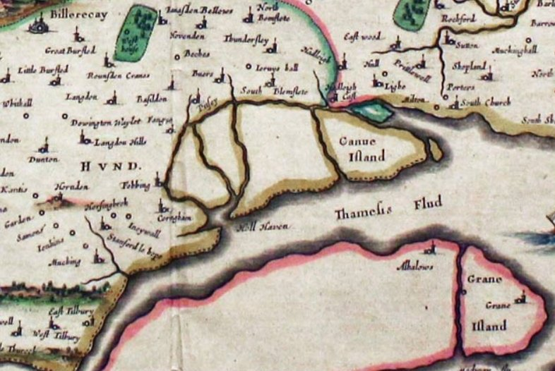Map of Canvey Island 1648