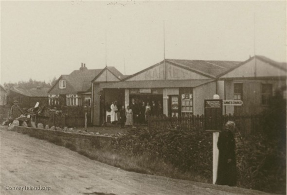 Kismet Cottage and the garages are seen on the left possibly at the time of the photo still being used for their original purpose. | D.Bullock.