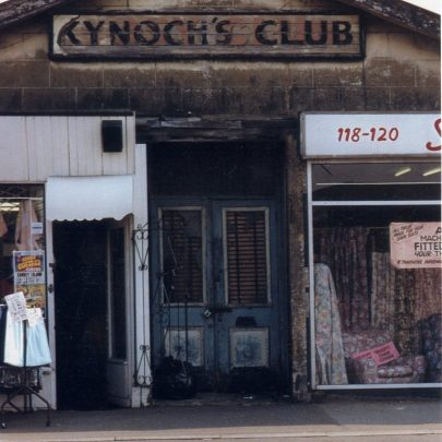 'The Kynoch Club' entrance and sign. High Street, Canvey. 1990 | Simon Whitnall