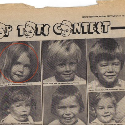Canvey Observer Top Tots contest September 1977 my daughter and son ringed | Eddie clarke