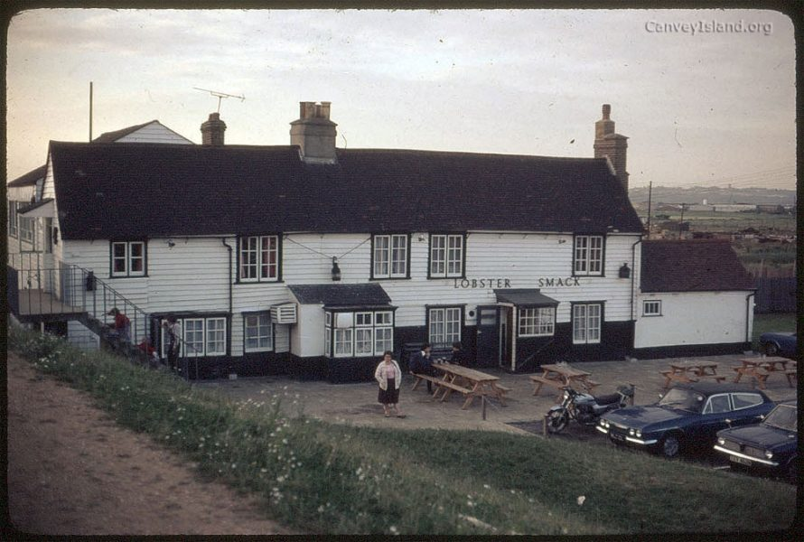 c1980: The Lobster Smack Inn at Hole Haven, see if you can spot any differences as to how she looks today. | (c) David Bullock