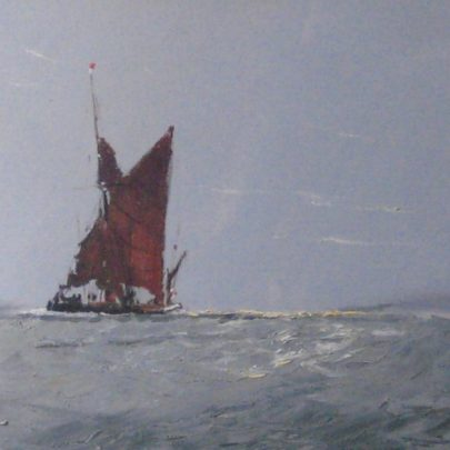 Lone Barge by Vic Ellis | ©Peter Morice