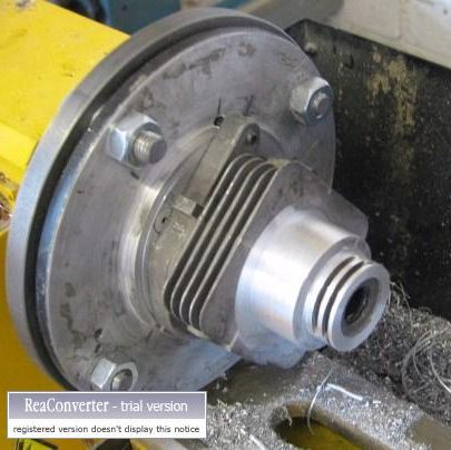 Machined cylinder for water jacket