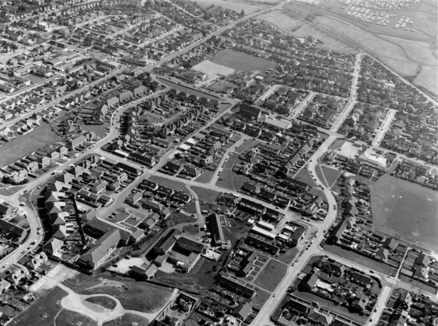 Little Gypps battery bottom left, Thames Crescent and St Nicholas Church in the middle, Thorney Bay Caravan site top right | Echo Newspaper Group