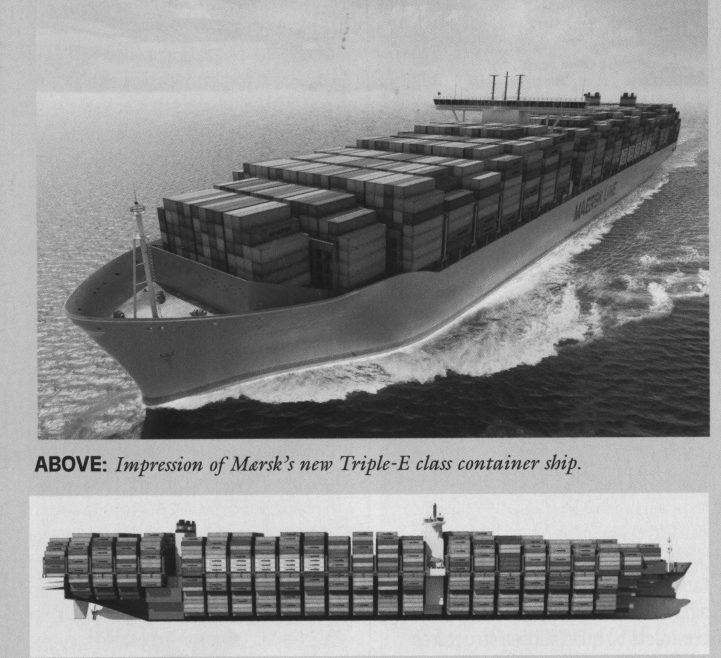 Speed 23 knots. 18000 containers.