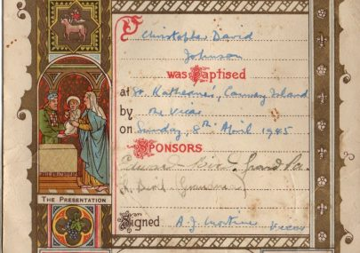 Baptism Certificate from 1945