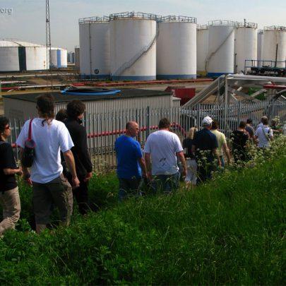 Walking past Fuel Containers   (c) David Bullock