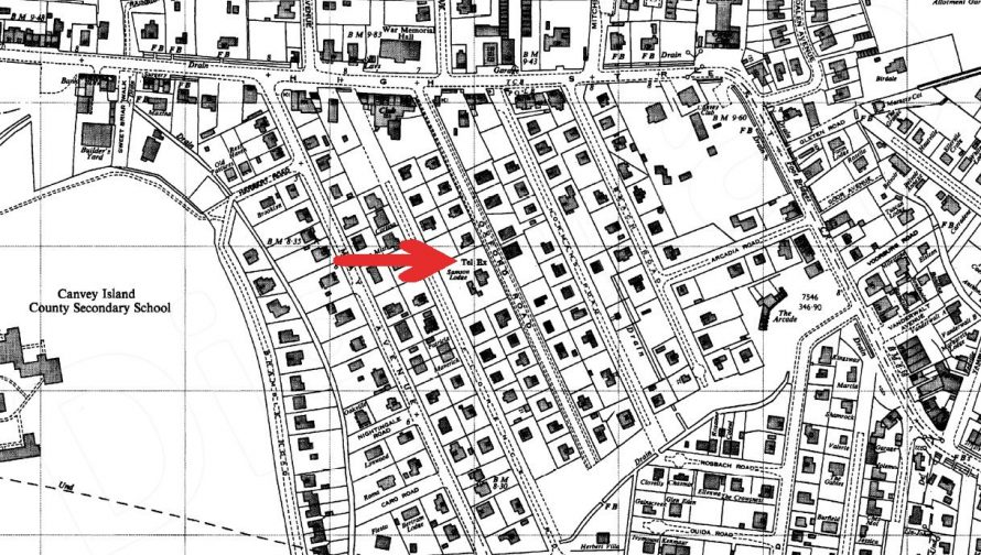 Map showing where the exchange was situated. No date on map.