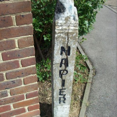 Photo of one of the unusual gate posts still there today. | Liam Heatherson