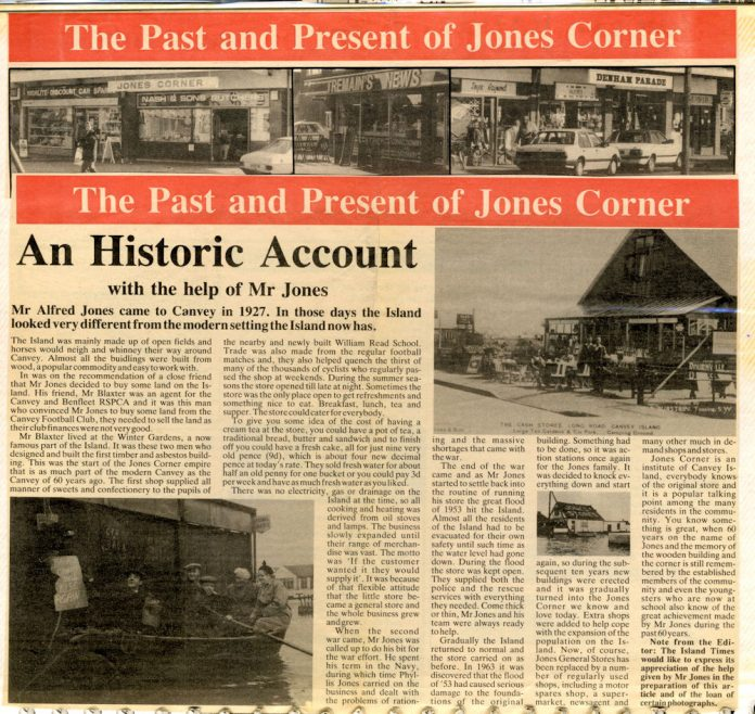 The Past and Present of Jones Corner