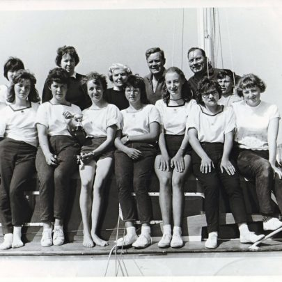 1963 Next to Madge in the back row is Roland Prout and Bernard Griffith. Front left are the two Prout sisters Tina? and Angela with Pat next then Marion Robinson | Pat Hunt