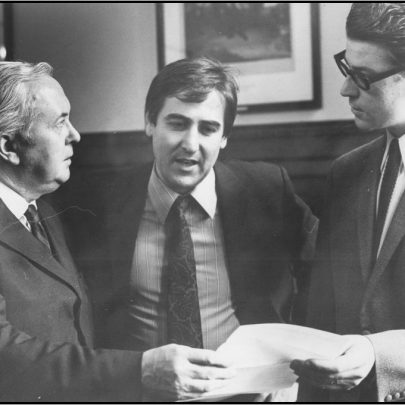 PM Harold Wilson, Bryn Jones and George Whatley meet. | Double Dice Photography