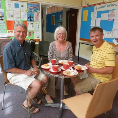 cream tea for the visitors at St.Nicholas Church