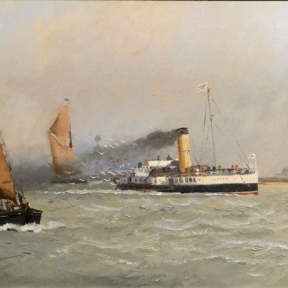 Great painting of the lighthouse