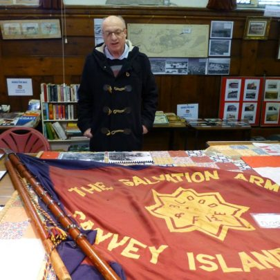 This is Ray Boreham who donated this Salvation Army Flag to the Museum. The flag is thought to date from around 1932. | Janet Penn
