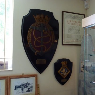 WW2 Warship Plaques. The larger one was presneted to Canvey Island and the other one to Benfleet | Janet Penn