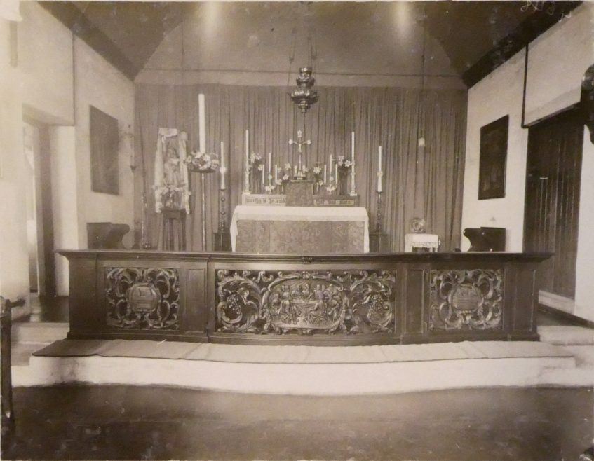 Inside the Convent Chapel | Courtesy of Douai Abbey Library and Archives