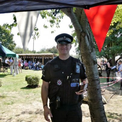 We did not do it guv'. Who says you can never find a policeman?   J Penn