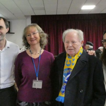 BBC Essex's Ben and Sonya popped in. Seen here with our Chair Janet Walden and Ray Howard | J Penn