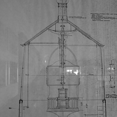This is another plan in the yacht club of a later alteration to the lighthouse dated 1879