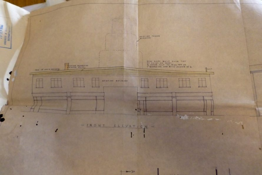 Plans for removing the clock Tower dated 1966 | (c) Lawrence family