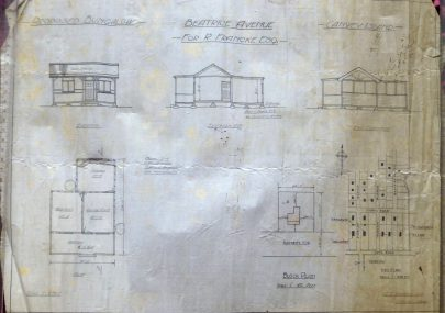Building plan from the 20s